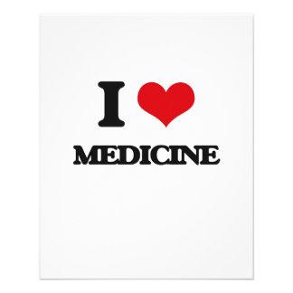 Amo la medicina flyer personalizado