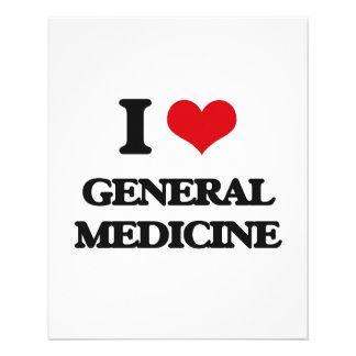 Amo la medicina general tarjeta publicitaria