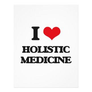 Amo la medicina holística flyer personalizado