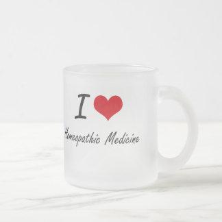 Amo la medicina homeopática taza cristal mate