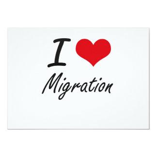 Amo la migración invitación 12,7 x 17,8 cm