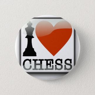 Amo la muestra del ajedrez chapa redonda de 5 cm