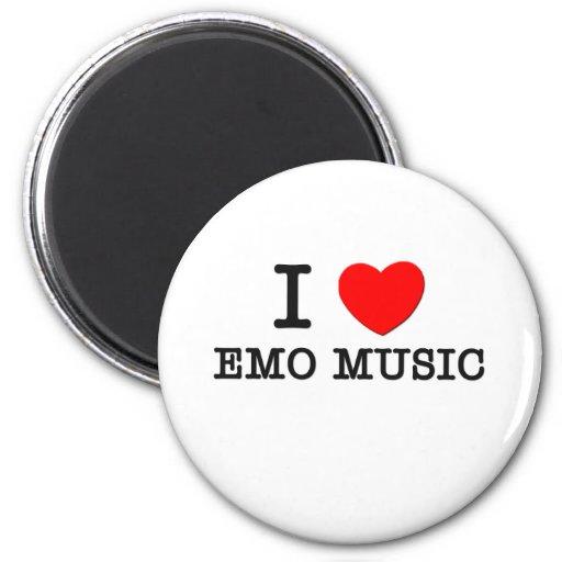 Amo la música de Emo Imanes De Nevera