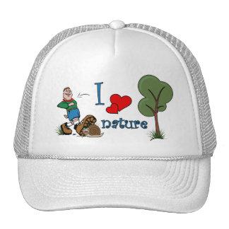 Amo la naturaleza gorras