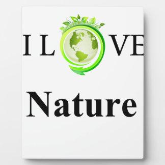 Amo la naturaleza placa expositora
