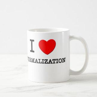 Amo la normalización taza de café