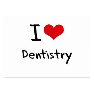 Amo la odontología tarjetas de visita grandes