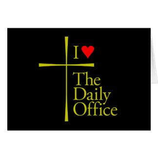 Amo la oficina diaria tarjeta de felicitación