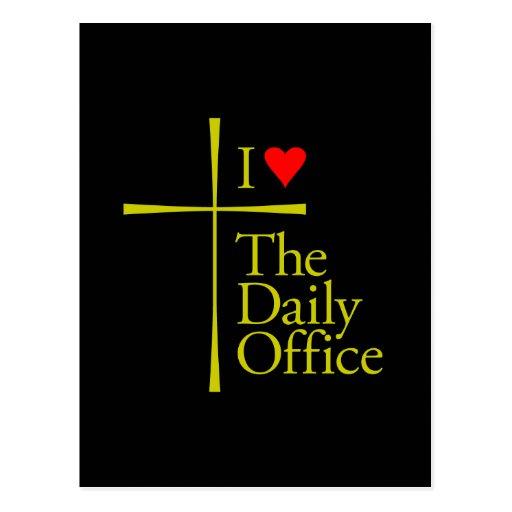 Amo la oficina diaria tarjetas postales