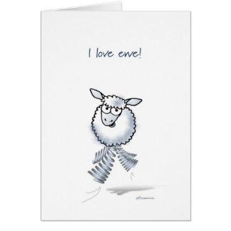 ¡Amo la oveja! ¡Aniversario feliz! Tarjeta