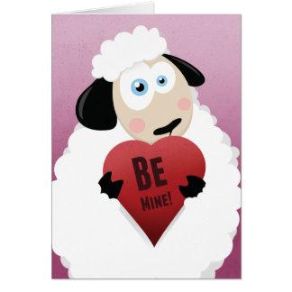 Amo la oveja sea el mío tarjeta de la tarjeta del