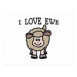 Amo la oveja tarjeta postal