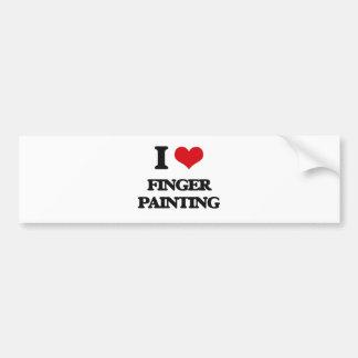Amo la pintura de dedo pegatina para coche