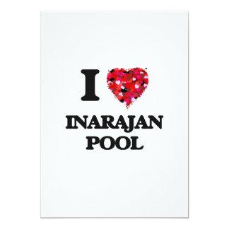 Amo la piscina Guam de Inarajan Invitación 12,7 X 17,8 Cm