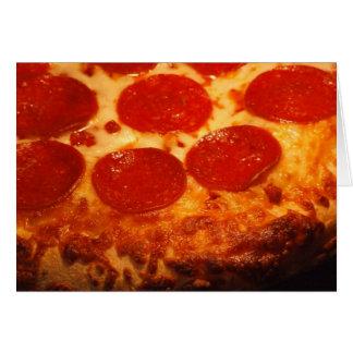 Amo la pizza y le tarjeta de felicitación