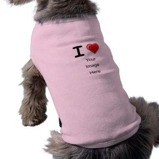 Amo la plantilla (del corazón) camiseta sin mangas para perro