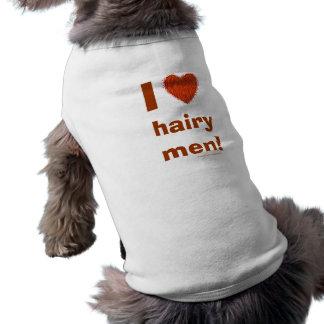 Amo la plantilla divertida de la camiseta del camiseta sin mangas para perro