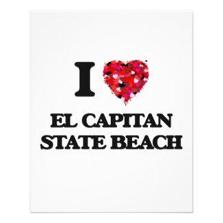 Amo la playa de estado del EL Capitan California Folleto 11,4 X 14,2 Cm