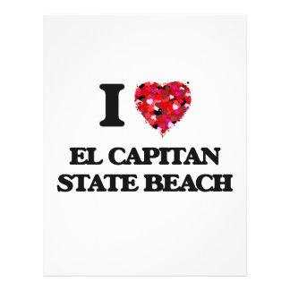 Amo la playa de estado del EL Capitan California Folleto 21,6 X 28 Cm
