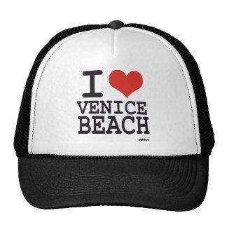 Amo la playa de Venecia Gorras