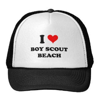 Amo la playa del boy scout gorro