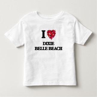 Amo la playa la Florida de la belleza de Dixie Camisetas