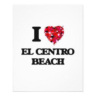 Amo la playa la Florida del EL Centro Folleto 11,4 X 14,2 Cm