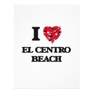 Amo la playa la Florida del EL Centro Folleto 21,6 X 28 Cm