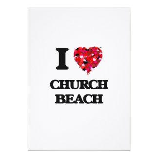 Amo la playa Michigan de la iglesia Invitación 12,7 X 17,8 Cm