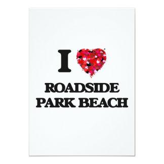 Amo la playa Michigan del parque del borde de la Invitación 12,7 X 17,8 Cm