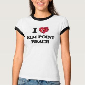 Amo la playa Michigan del punto del olmo Camiseta