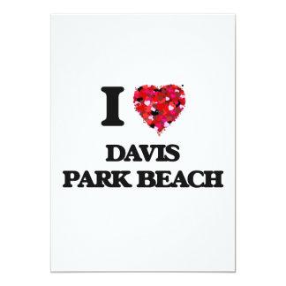 Amo la playa Nueva York del parque de Davis Invitación 12,7 X 17,8 Cm