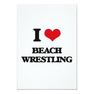 Amo la playa que lucha invitación 8,9 x 12,7 cm