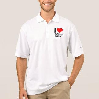 amo la puntada corriente polo camiseta