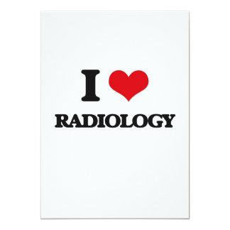 Amo la radiología invitación 12,7 x 17,8 cm