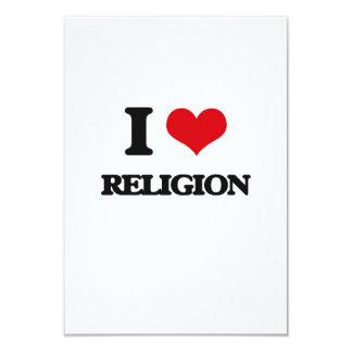 Amo la religión invitación 8,9 x 12,7 cm