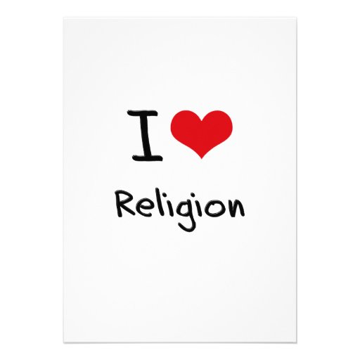 Amo la religión invitación personalizada