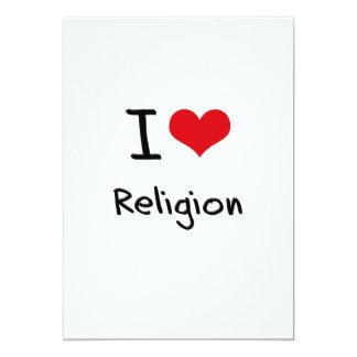 Amo la religión invitación 12,7 x 17,8 cm
