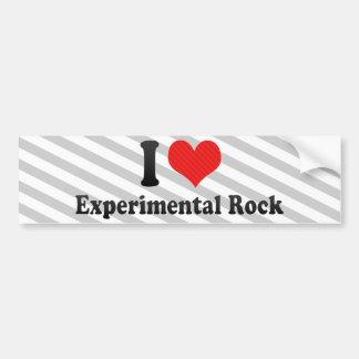 Amo la roca experimental pegatina de parachoque