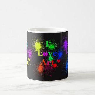 Amo la salpicadura y goteos de la pintura del taza de café