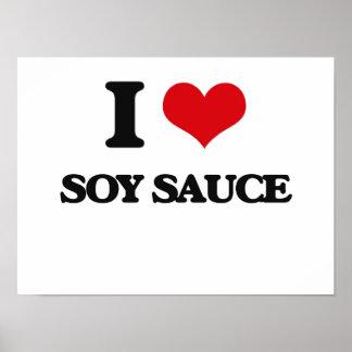 Amo la salsa de soja póster