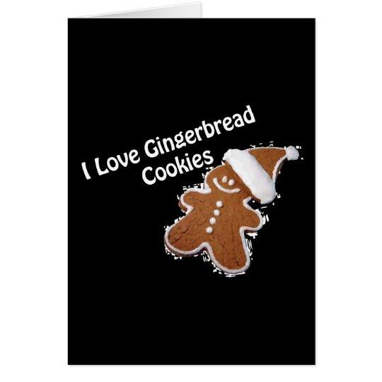 amo la tarjeta de las galletas del pan de jengibre