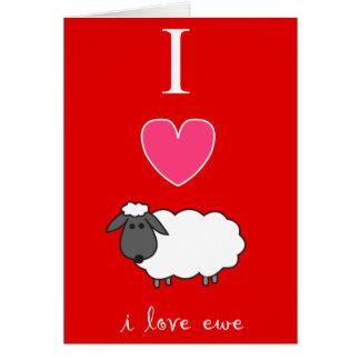 Amo la tarjeta del el día de San Valentín de la