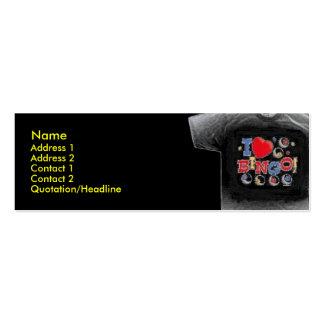 Amo la tarjeta flaca del perfil de la camiseta del tarjetas de visita mini