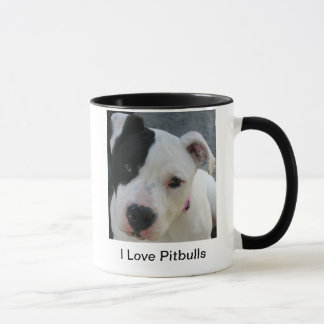 Amo la taza de la taza de café de Pitbulls