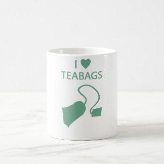 Amo la taza de las bolsitas de té