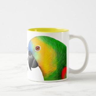 Amo la taza de los loros del Amazonas