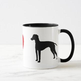 Amo la taza de los terrieres de Manchester