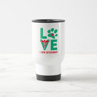 Amo la taza veterinaria del viaje
