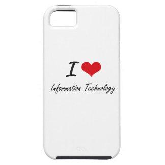 Amo la tecnología de la información iPhone 5 cárcasas